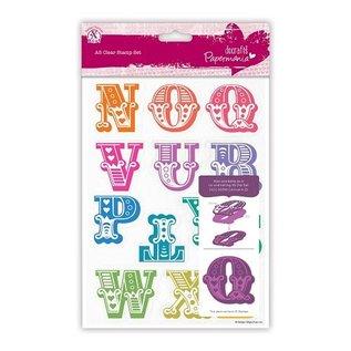 Docrafts / X-Cut Stempel met grote letters N tot en met Z