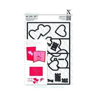 Docrafts / X-Cut X-Cut, Stanzschablone, A5 Set (11pcs) - Pop Up Card Love