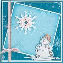 Leane Creatief - Lea'bilities und By Lene Leabilities, estampar - y relieve plantilla del muñeco de nieve