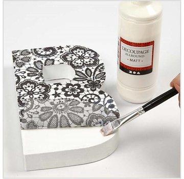 Karten und Scrapbooking Papier, Papier blöcke Decoupage papier, assortiment zwart-wit, vel 25x35 cm, 8 sorteren. Vel