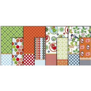 DECOUPAGE AND ACCESSOIRES Decoupage papier, kleurbereik, vel 25x35 cm, 8 sorteren. Vel