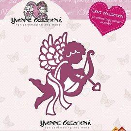 Yvonne Creations Estampage et gaufrage pochoir, Yvonne Creations, Love Collection, Cupidon