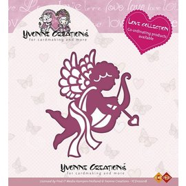 Yvonne Creations Stempling og prege sjablong, Yvonne Creations, kjærlighet Collection, Cupid
