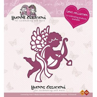 Yvonne Creations Stempelen en embossing stencil, Yvonne Creations, Love Collection, Cupido