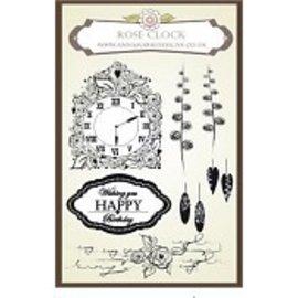 Stempel / Stamp: Transparent Anna Marie Designs, Stempel, Rose Clock Set, passend zu den Stanzschablone Uhr