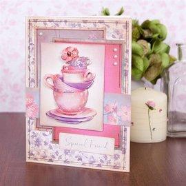 Stempel / Stamp: Transparent Transparent Stempel,Transparent Stempel,  10 Motive, Tassen, Geschenken und Blumen