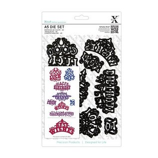 Docrafts / X-Cut XCut, A5 punching template set (8 HAMPERS) - ornate greetings