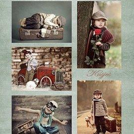 Nellie Snellen Decoupage hojas A4 - Niños Vintage