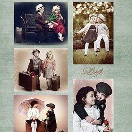 Nellie Snellen Decoupage sheets A4 - Vintage Friends