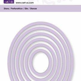 Cart-Us Tapis de coupe, cadre ovale, taille 6