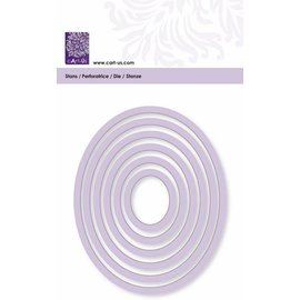 Cart-Us Estera de corte, marco oval, tamaño 6