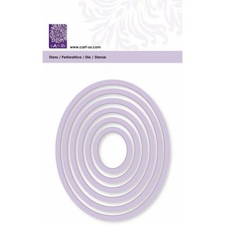 Cart-Us Schneideschablone, Ovale Rahmen, 6 Größe