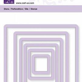 Cart-Us Gabarit de découpe, carrée, taille 6