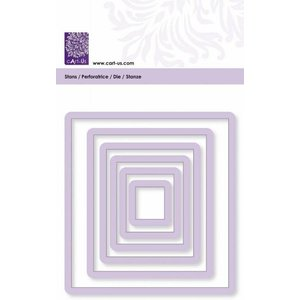 Cart-Us Schneideschablone,Quadrat , 6 Größe