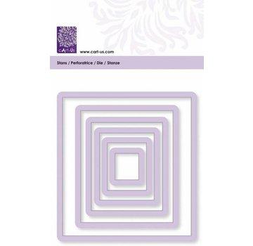 Cart-Us Skæring skabelon, firkantet, størrelse 6