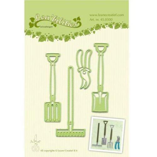 Leane Creatief - Lea'bilities und By Lene Leabilities, Stanz - und Prägeschablone, Garden Werkzeug