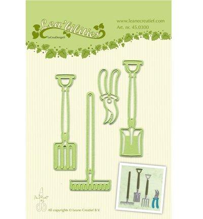 Leabilities, estampage - et gaufrage pochoir, Outil de jardin