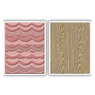 Sizzix 2 embossing folders, 2PK, 15.56cm x 11.11cm