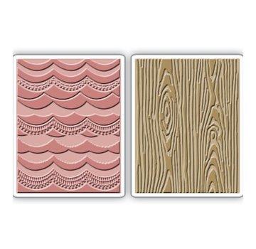 Sizzix 2 cartelle di goffratura, 2PK, 15,56 centimetri x 11.11cm