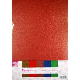 Karten und Scrapbooking Papier, Papier blöcke Papel Flor Papierset, 5 x 2 hojas (A4) de color cálido
