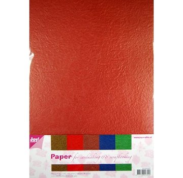 Karten und Scrapbooking Papier, Papier blöcke Paper Blossom Papierset, 5 x 2 vel (A4) warme kleur