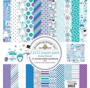 Designer Papier Scrapbooking: 30,5 x 30,5 cm Papier Designer Block, paper block, Doodlebug - Frosty Friends 30.5 x 30.5cm