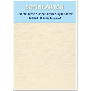 Karten und Scrapbooking Papier, Papier blöcke 10 sheets A4, 250gr / sqm, on both sides with satin linen embossing, cream