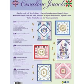 BASTELSETS / CRAFT KITS Material set: Anniversary / Set of 6 cards with glowing