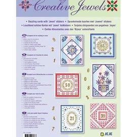 BASTELSETS / CRAFT KITS Materialset: Jubiläum / Set für 6 leuchtenden Wünschkarten