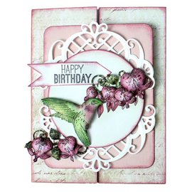 Heartfelt Creations aus USA Rubber Stamp, 3 motieven Romantique Wings