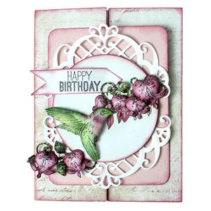 Heartfelt Creations aus USA Rubber Stempel, 3 Motive, Romantique Wings