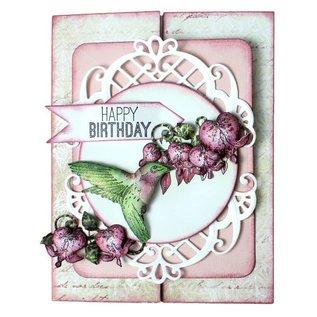 Heartfelt Creations aus USA Rubber Stempel, 3 Motive, Romantique Wings