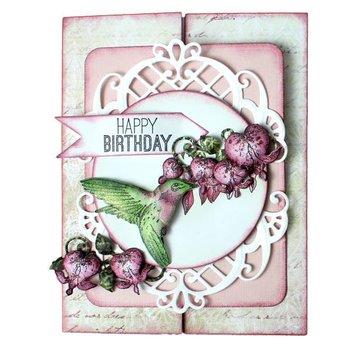 Heartfelt Creations aus USA Rubber Stamp, 3 motieven Romantique Wings