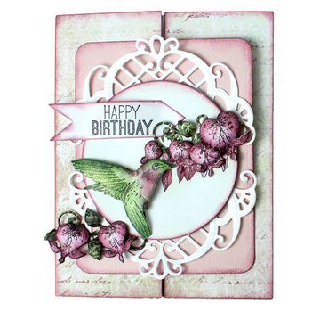 Heartfelt Creations aus USA Rubber Stamp, 3 motifs Romantique Wings
