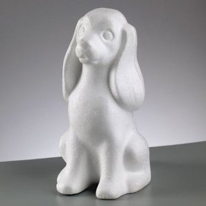 Objekten zum Dekorieren / objects for decorating Styrofoam form, Hund, 240 mm,
