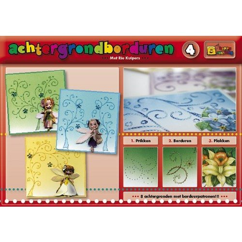 Bücher, Zeitschriften und CD / Magazines A book with 16 color the background with embroidery!