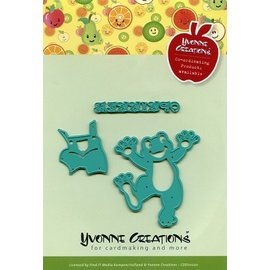 Yvonne Creations Embossing and cutting template, happy frog