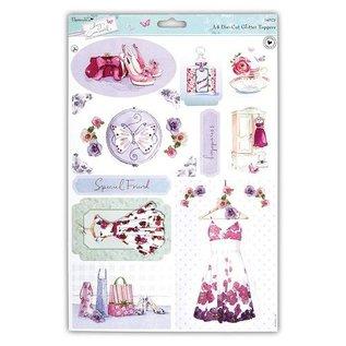 Bilder, 3D Bilder und ausgestanzte Teile usw... A4 die cut sheet with pretty designs