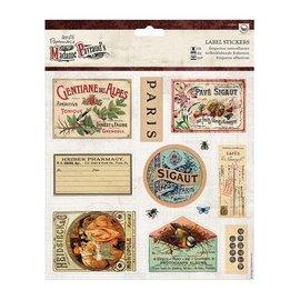 Sticker 12 étiquettes autocollantes