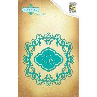 Nellie Snellen Vintasia reliëf en snijmat, multi-sjabloon, hart en frame