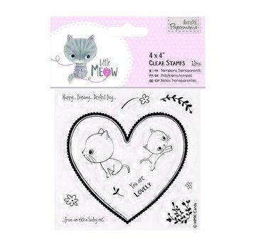 Docrafts / Papermania / Urban Transparent Stempel, niedlichen Kätzchen