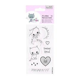 Docrafts / Papermania / Urban Clear stamps, chaton mignon, Little Meow - Quelqu'un spécial