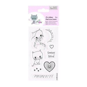 Docrafts / Papermania / Urban Clear stamps, cute kitten, Little Meow - Someone Special