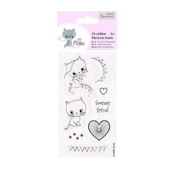 Docrafts / Papermania / Urban Transparent Stempel, niedlichen Kätzchen, Little Meow - Someone Special