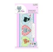 Docrafts / Papermania / Urban Decoupage kort sæt, lille meow