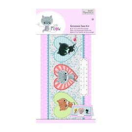 Docrafts / Papermania / Urban Set carta decoupage, piccole meow