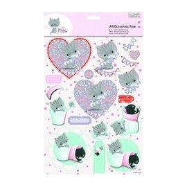 DECOUPAGE AND ACCESSOIRES A4 Decoupage Pack - Petit Meow - Amis