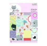 Karten und Scrapbooking Papier, Papier blöcke A5 papir blok med 42 side, Little Meow