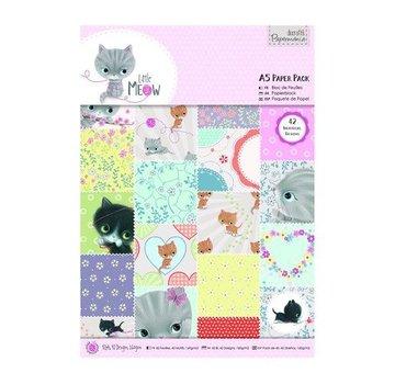 Karten und Scrapbooking Papier, Papier blöcke A5 Paper Block mit 42 Seite, Little Meow