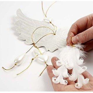 Embellishments / Verzierungen Eend veren gekruld,